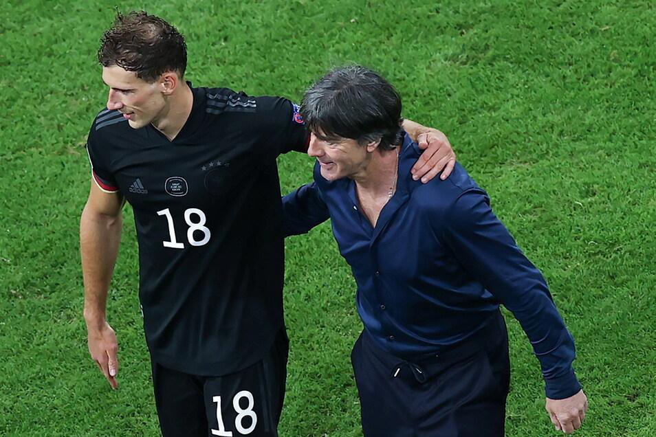 """""""Goretzka und Kimmich sind jetzt schon Leader in der Mannschaft"""", sagt Joachim Löw."""