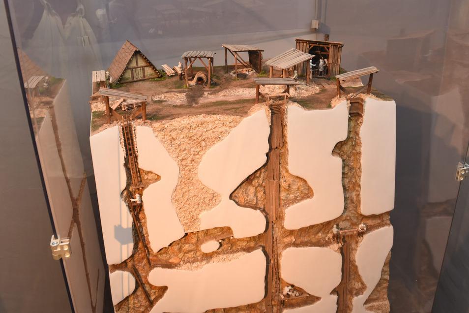 Diese Modell eines Bergwerks ist im Museum zu sehen. In der neuen Führung wird es für Kinder erklärt.