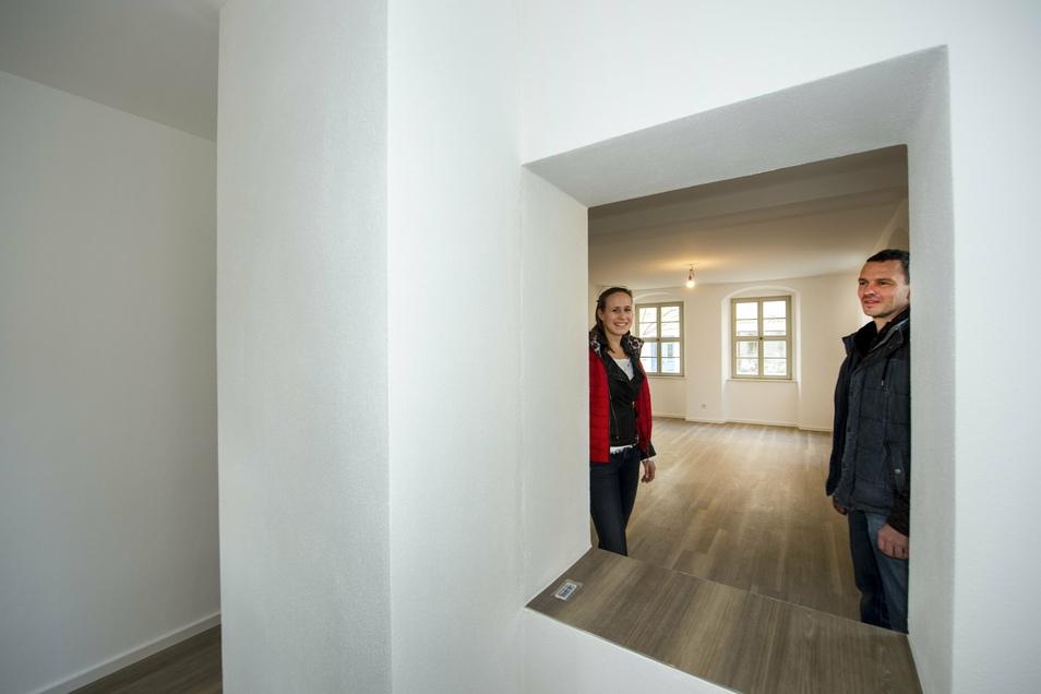 Katharina und Daniel Fischer aus Dresden sind die Bauherren vom Neumarkt 12, der ehemaligen Börse.
