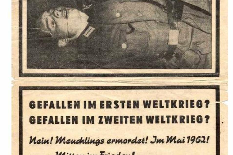 """Die DDR schlachtete den Tod von Peter Göring 1962 aus. In der Staatspropaganda war von """"nacktem, kalten und geplanten Mord"""" die Rede."""