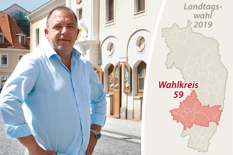 Rico Hertrampf tritt für die Freien Wähler im Wahlkreis 59 an.