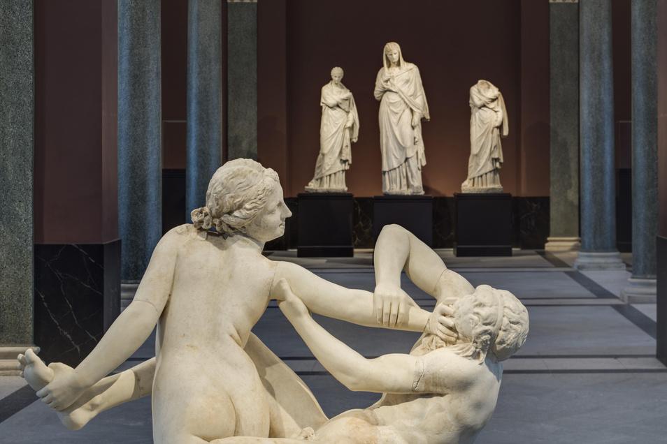 Die Schätze der Dresdner Skulpturensammlung zieren teilweise erstmals die Sempergalerie.