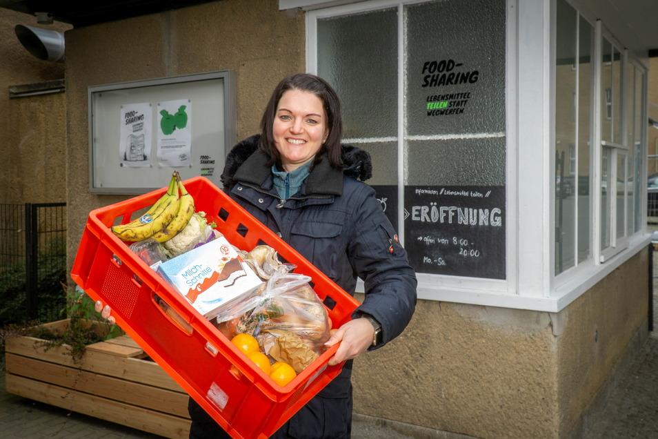 Christin Wegner engagiert sich mit Gleichgesinnten in Bautzen gegen Lebensmittelverschwendung. Am Sonntag informiert der Verein öffentlich über das Thema.