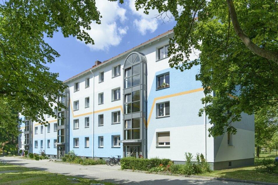 Das Haus Am Elsterstrand 4 der Wohnungsgesellschaft Hoyerswerda mbH