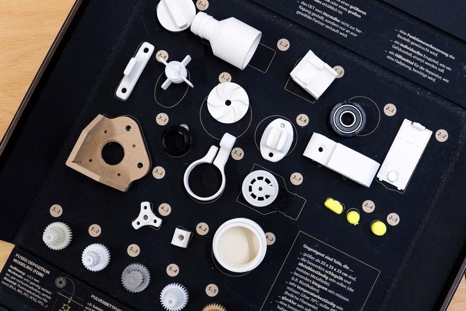 Ersatzteile wie diese können mit einem 3D-Drucker erstellt werden.