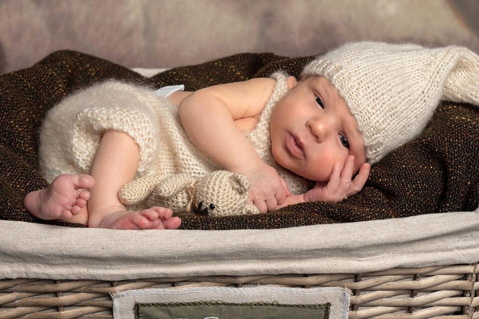 Linus Friedrich, geboren am 28. Dezember, Geburtsort: Dresden, Gewicht: 3.145 Gramm, Größe: 51 Zentimeter, Eltern: Manuela und Marco Peltzer, Wohnort: Kamenz