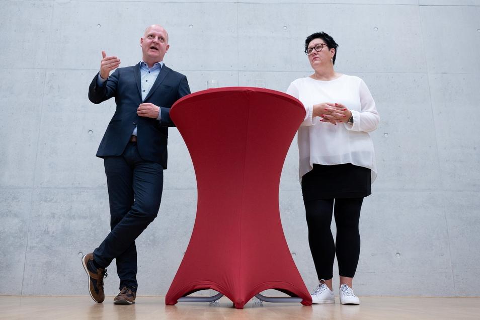 Sachsens SPD soll eine Doppelspitze bekommen. Antreten werden Kathrin Michel und Henning Homann.