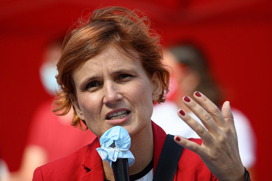 Linken-Bundeschefin Katja Kipping will sich aus der Parteispitze zurückziehen.