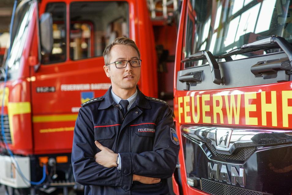 Markus Bergander ist seit 2015 Bautzens oberster Feuerwehrmann. Er sorgt sich um die Einsatzbereitschaft der freiwilligen Wehren in den Ortsteilen.