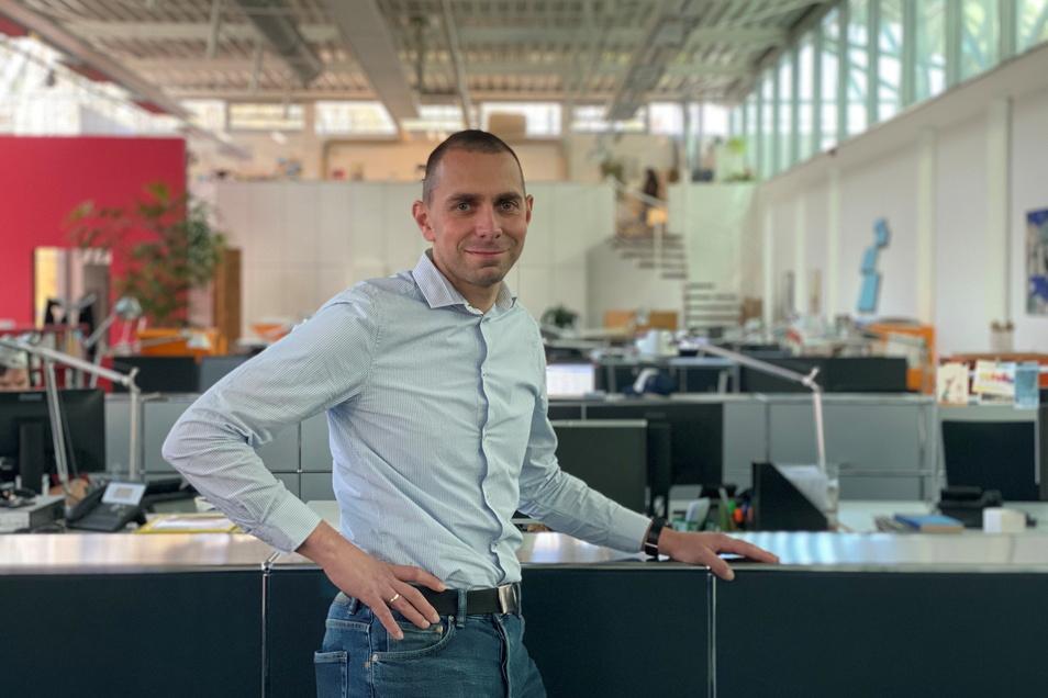 Als Gesundheitsmanager der Deutschen Werkstätten in Dresden-Hellerau hat Frank Mrosowski die Corona-Impfungen im Unternehmen mit organisiert.