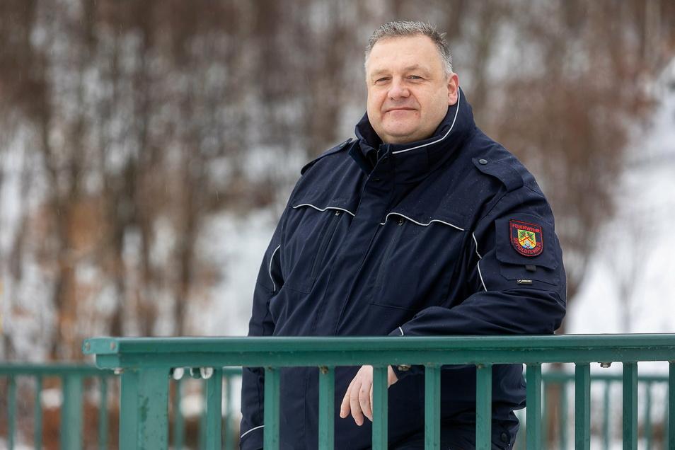 Michael Ebert ist als Dippser Stadtwehrleiter für die Feuerwehren zwischen Seifersdorf und Schönfeld verantwortlich.