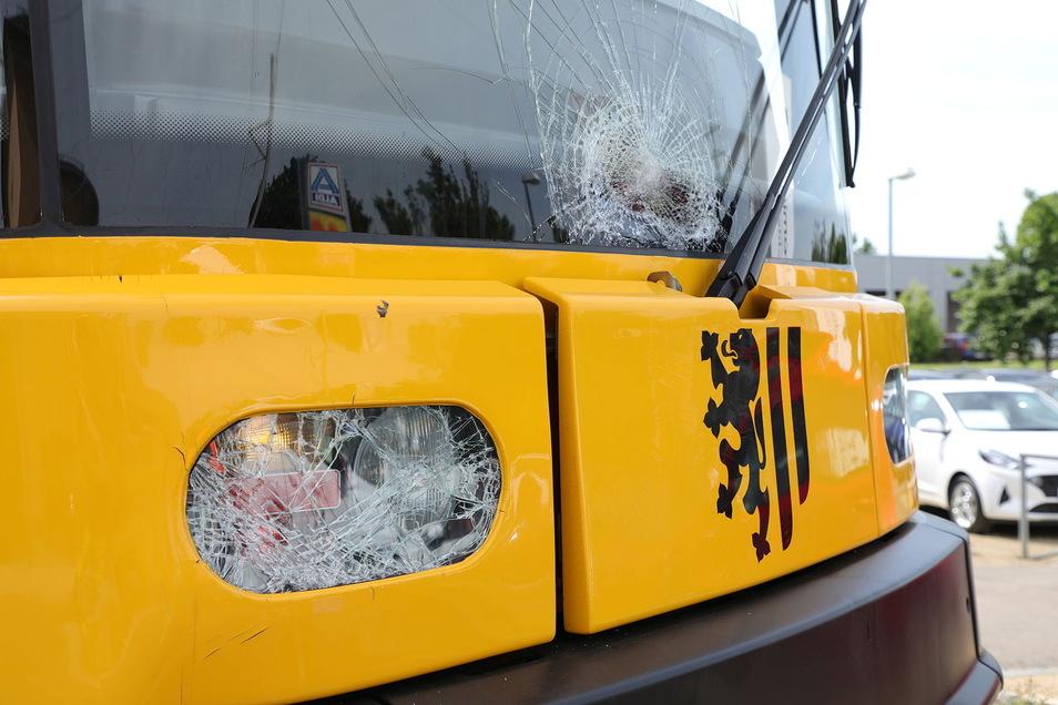Die Straßenbahn wurde leicht beschädigt, alle Insassen blieben unverletzt.