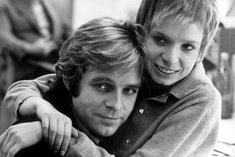 Schauspielerin Ingrid Steeger und Thomas Fritsch 1975 bei den Dreharbeiten zu dem Fernsehspiel «Manchmal Märchen».
