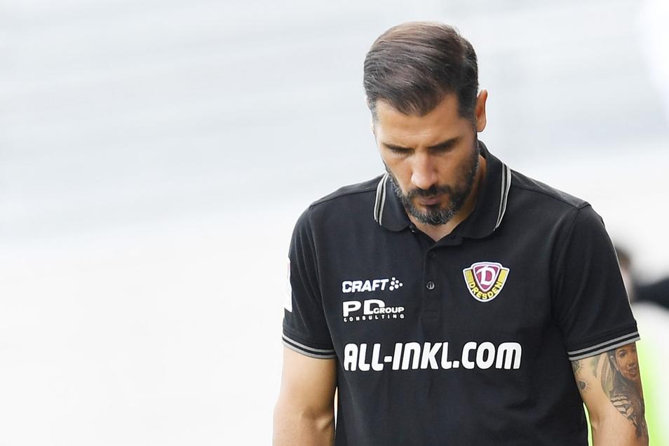 SGD-Trainer Cristian Fiel nach dem Spiel