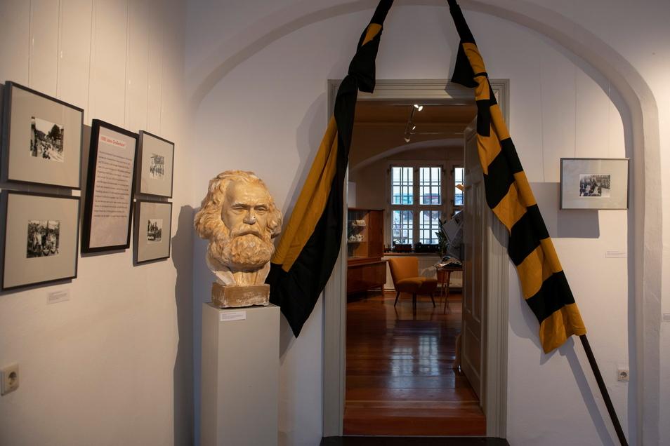 Aktuelle Sonderausstellung im Museum Alte Lateinschule, das der Förderverein unterstützt. Sie ist der Tausendjahrfeier Großenhains gewidmet.