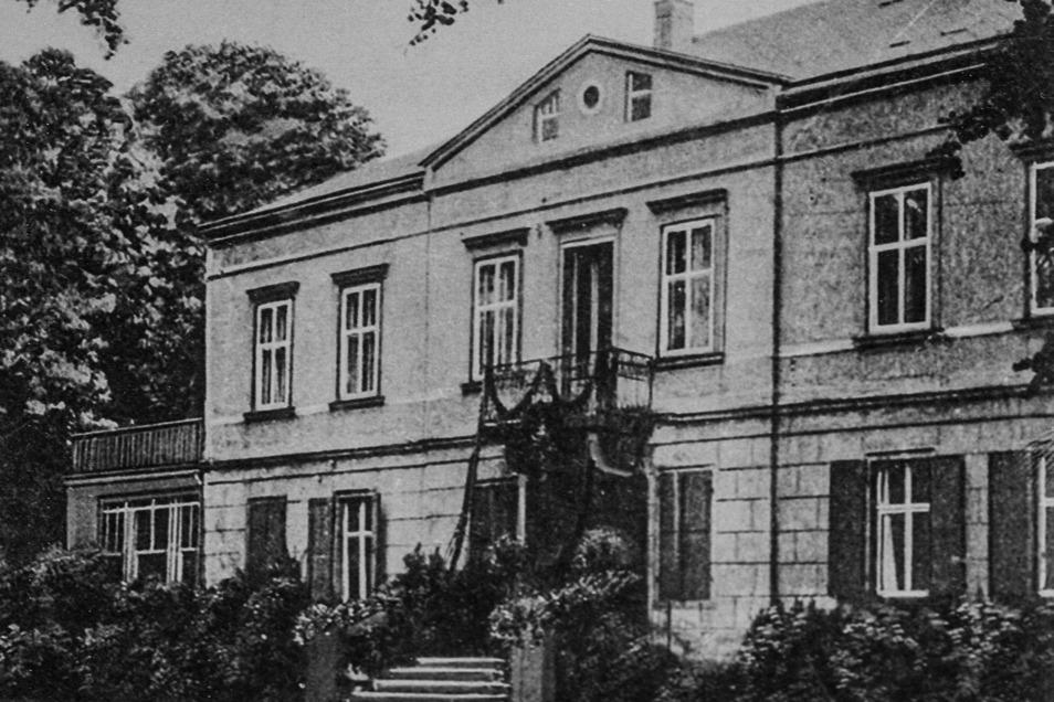 So sah es auf Schloss Pinnewitz früher aus. Ein Originalfoto aus dem Jahr 1902.