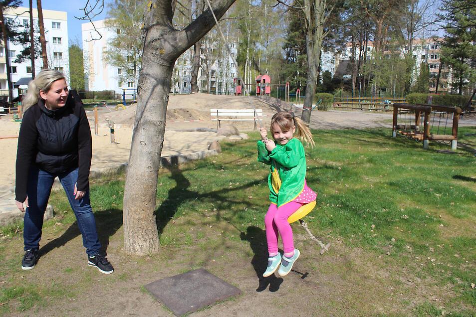 """Jana Welsch ist mit ihrem Team der Kita """"Pfiffikus"""" in Bernsdorf auf Krisenzeiten vorbereitet. Der Alltag soll in der Notbetreuung möglichst normal ablaufen,"""