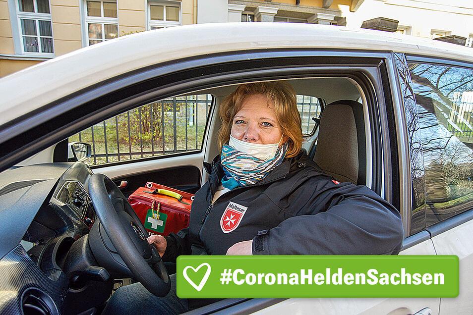 Als mobile Altenpflegerin ist Kerstin Nowak jeden Tag für hilfsbedürftige Menschen in Bautzen da. Der Job duldet keinen Aufschub - auch nicht in Zeiten der Krise.
