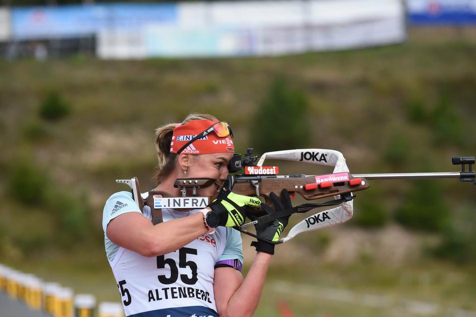 Mit am Start: Biathlon-Athletin Denise Herrmann aus Oberwiesenthal