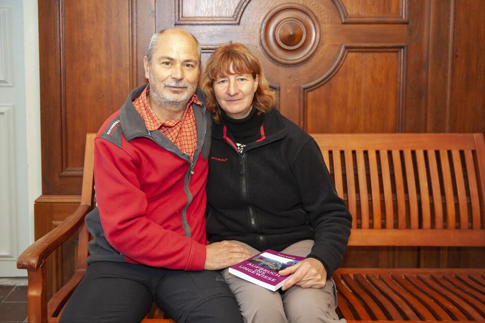Susan und Dirk Svoboda bei ihrem Besuch auf Schloss Lauterbach.