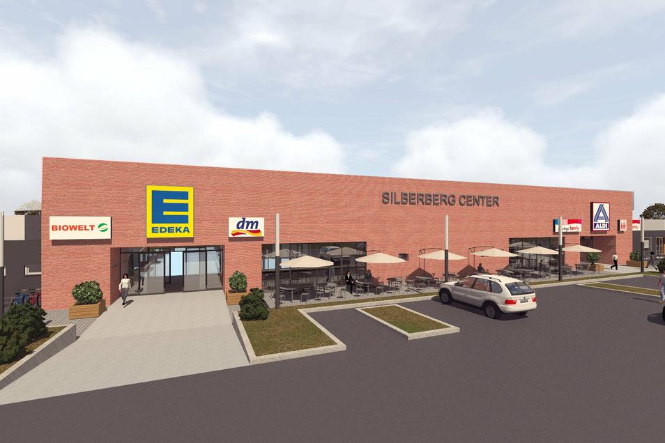 Wenn im November das neue Einkaufszentrum in Radeberg eröffnet wird, dürfte dieses als Silberberg-Center bezeichnete Gebäude das Geschäftsleben der Bierstadt aufwerten.