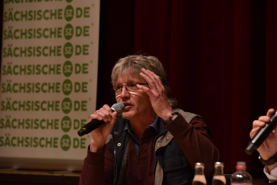 THW-Mann und Stadtfestorganisator: Dirk Massi (59) beim SZ-Wahlforum.