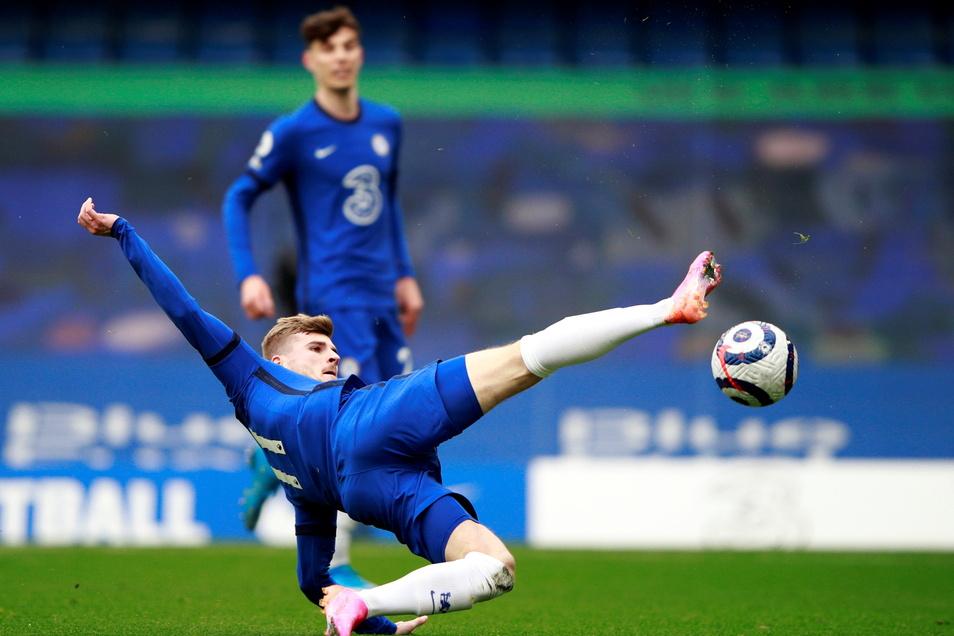Timo Werner (vorne) vom FC Chelsea in Aktion.