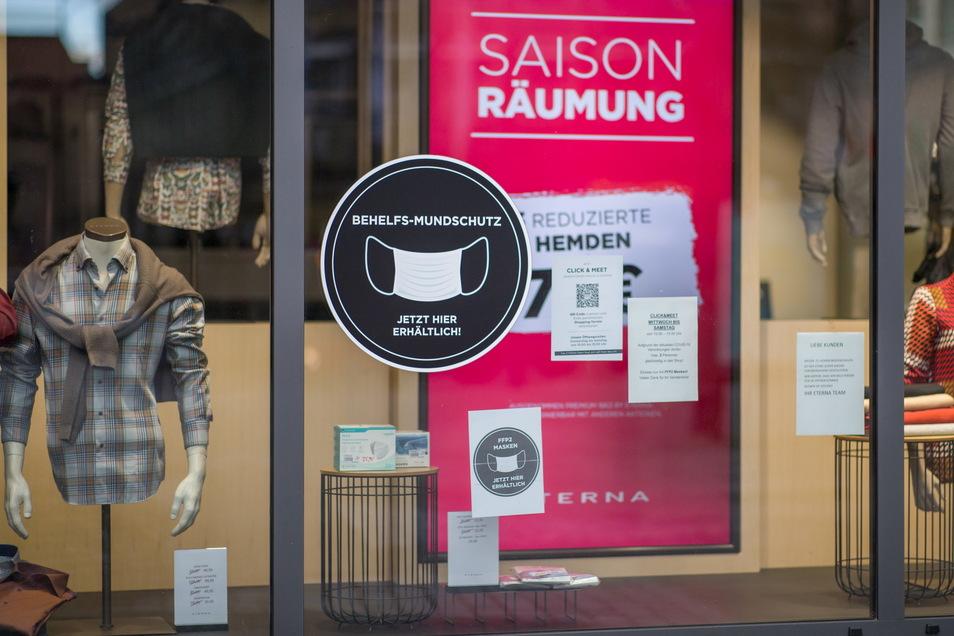 """Der Handel im Kreis Görlitz wird ab Dienstag das Modell """"Click & Meet"""" wieder einstellen müssen."""
