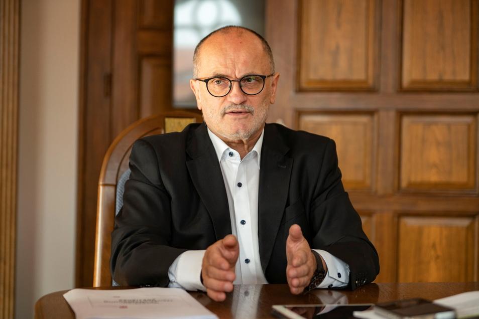 Roland Dantz (parteilos) ist Oberbürgermeister der Stadt Kamenz.