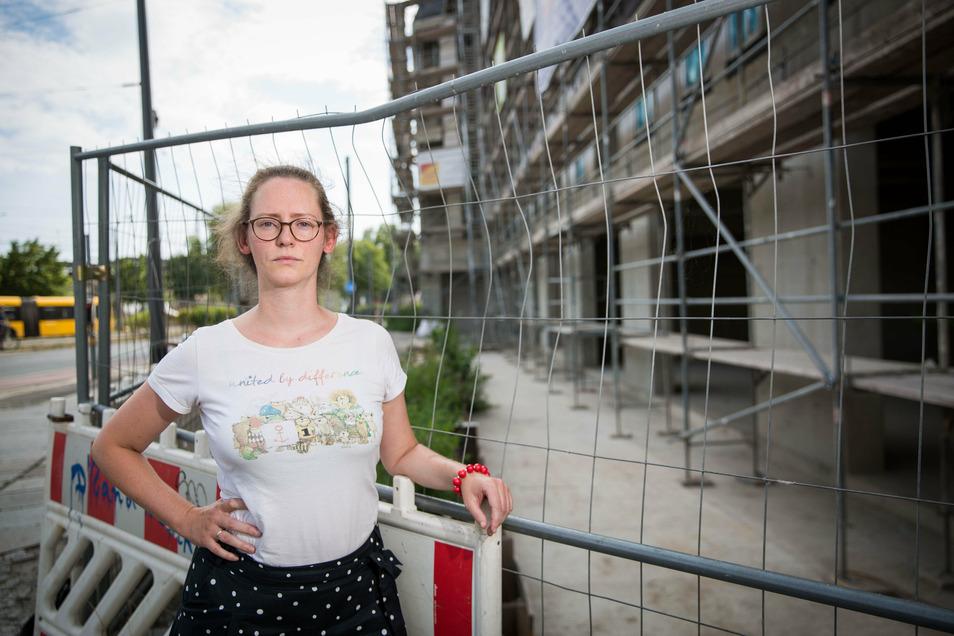 Susanne Krause hat sich gegen ein geplantes Einkaufszentrum an der Friedrichstraße stark gemacht. Was dort nun stattdessen gebaut wird, enttäuscht sie aber auch.