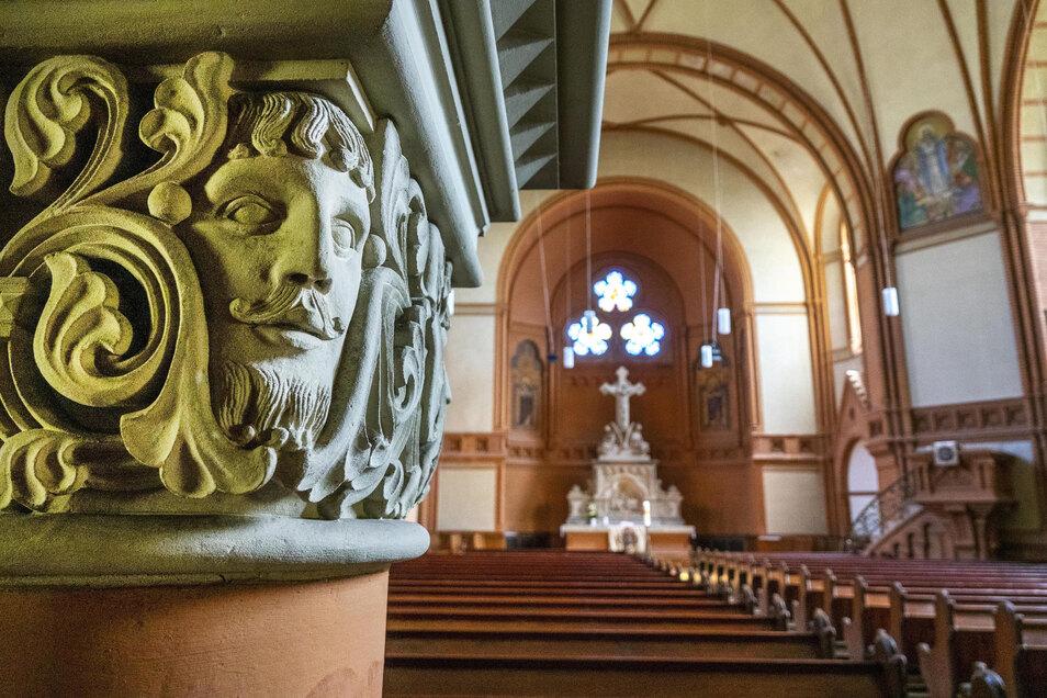 Ein Blick in Riesas größtes Gotteshaus - die Trinitatiskirche.
