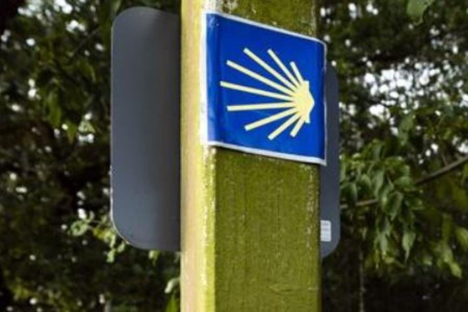 Ein Symbol der Pilgerer. Sie sollen einmal in Weißenberg eine Unterkunft finden.