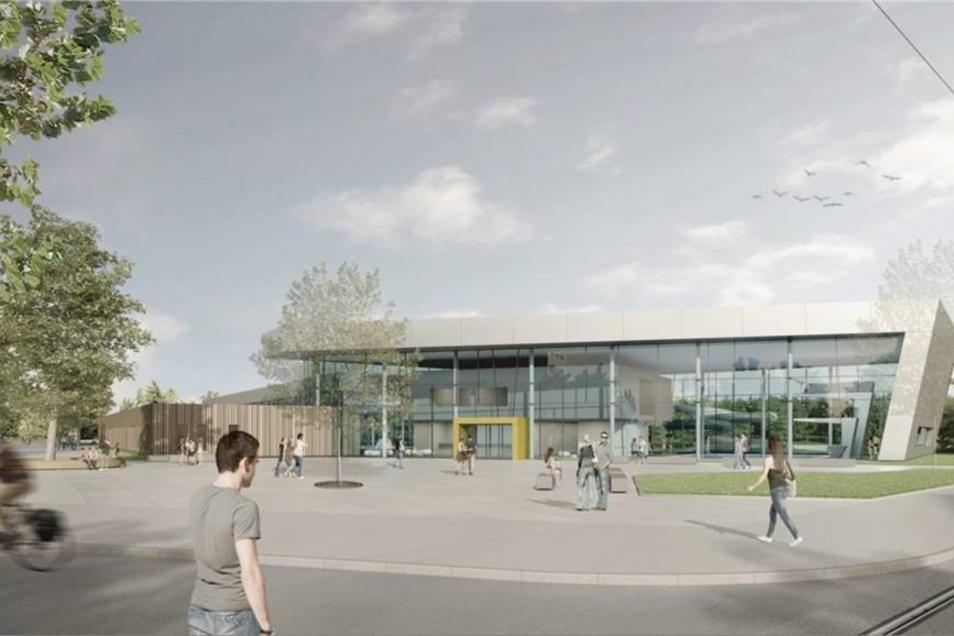 So soll das neue Hauptgebäude später aussehen.