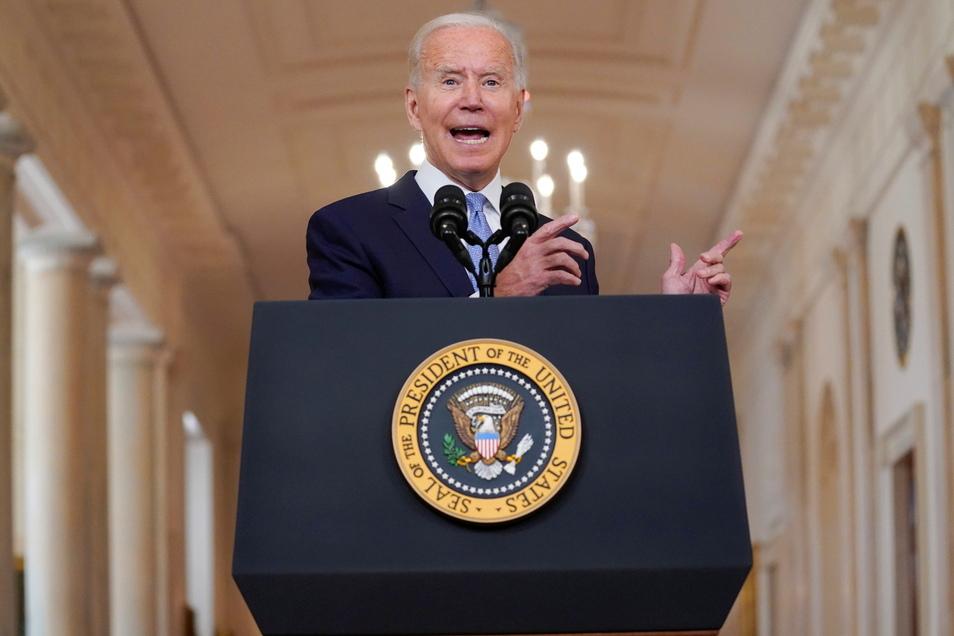 US-Präsident Joe Biden spricht über die Lage in Afghanistan.