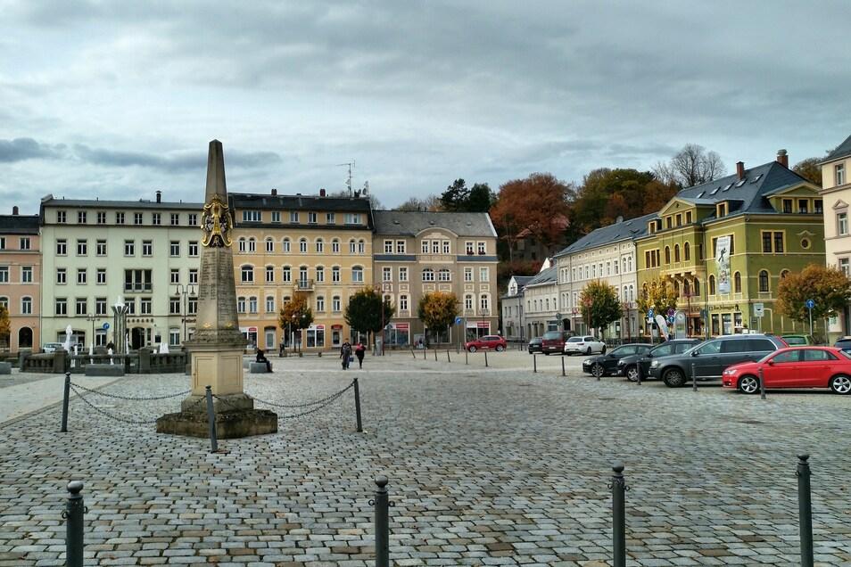 Der Marktplatz in Sebnitz
