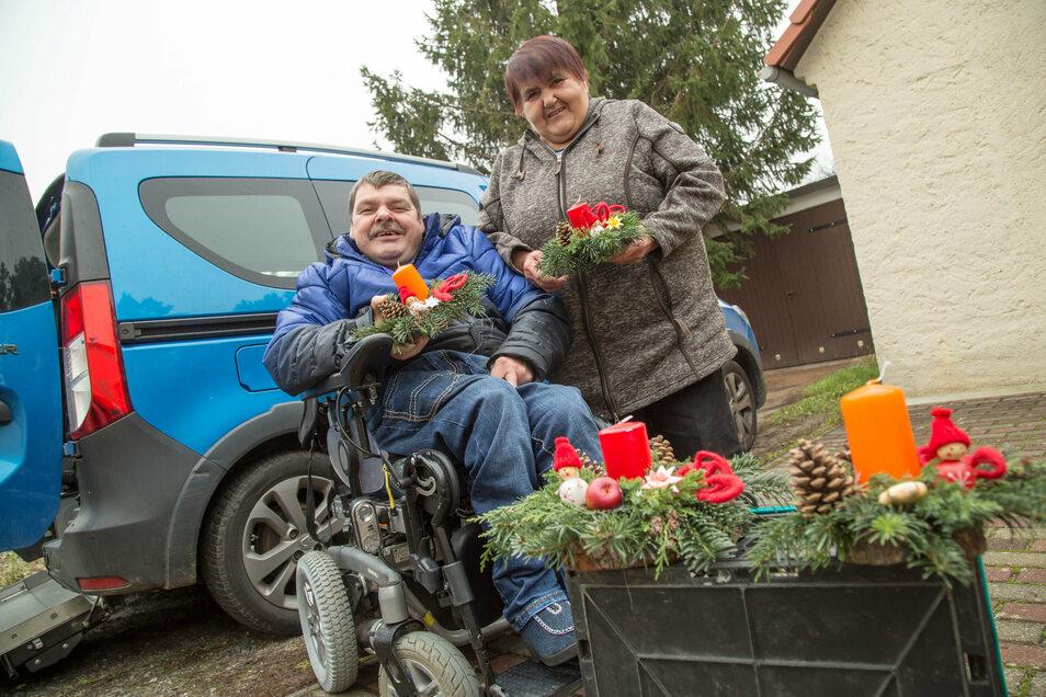 Jörg Puppel und seine Mutter aus Waldhufen sind Mitglieder der Selbsthilfegruppe Chronische Schmerzen.