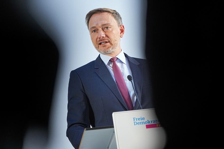 Christian Lindner, FDP-Bundesvorsitzender, informiert über den Stand der Sondierungsgespräche für die Regierungsbildung nach der Bundestagswahl.