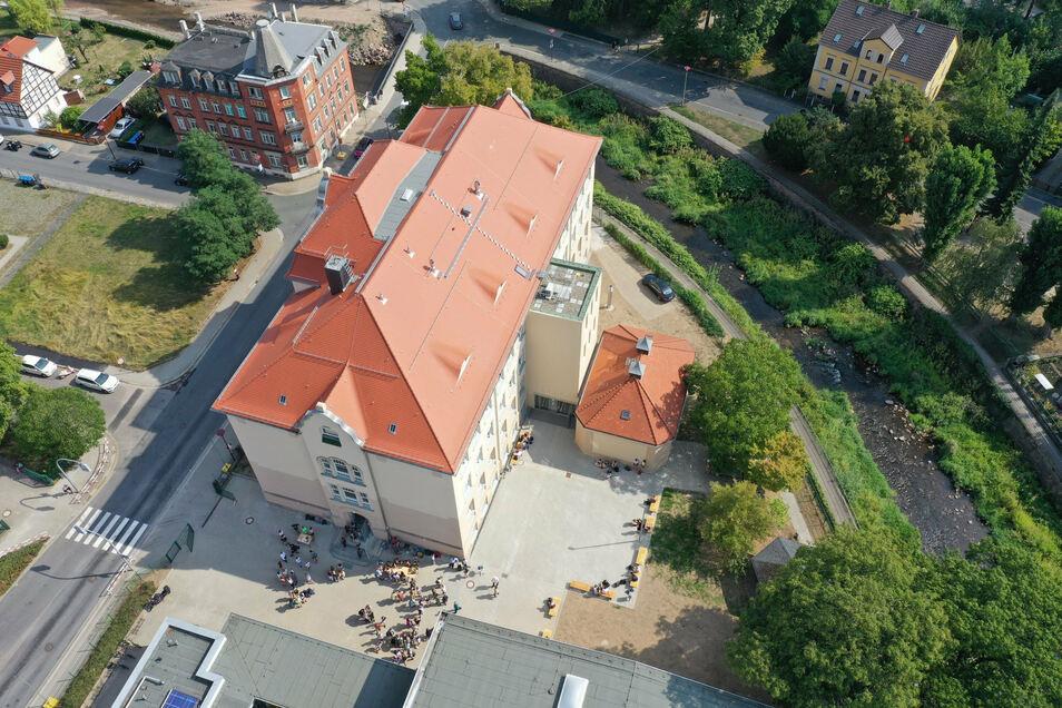 Am Weißeritzgymnasium in Freital wird weiter auf den Breitbandanschluss gewartet.