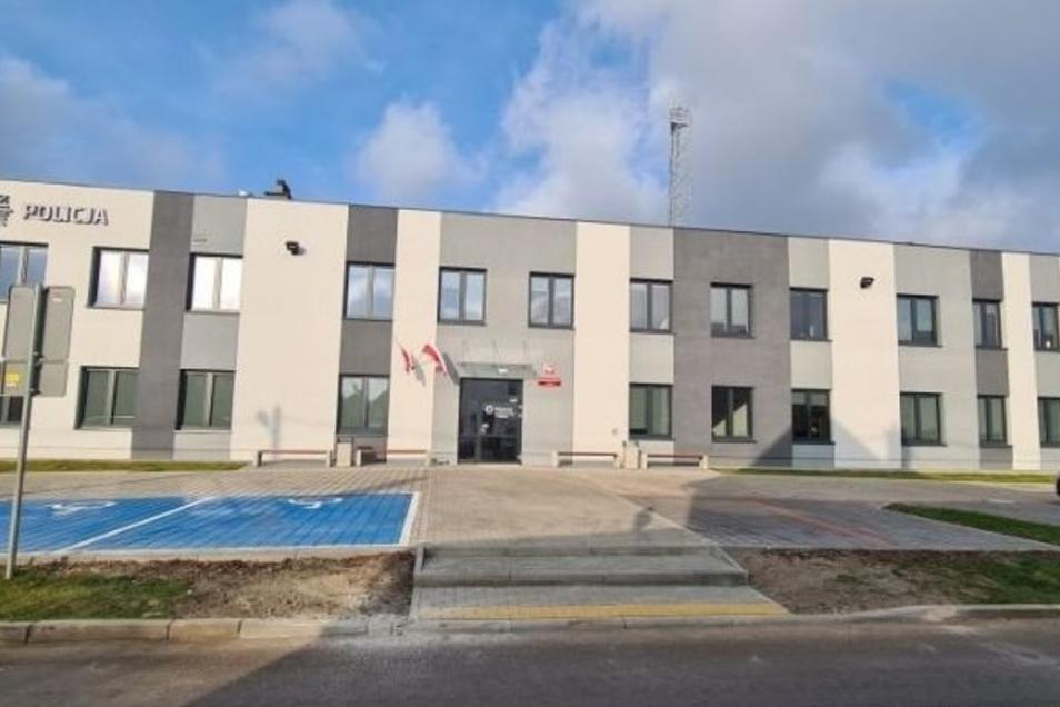 So sieht das neue Polizei-Gebäude in Bogatynia aus.