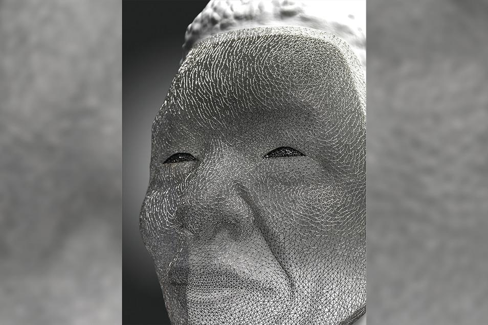 Nelson Mandela aus Platin und Meissener Porzellan. Der Londoner Künstler Tom Rucker schuf diese neue Plastik, die am 3. Oktober im Haus Meissen zu sehen ist.