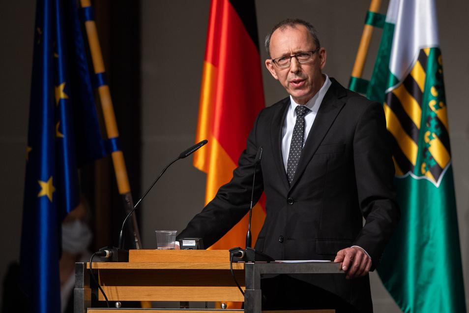 Jörg Urban, Fraktionsvorsitzender der AfD in Sachsen, hier auf einem Foto von Anfang April.