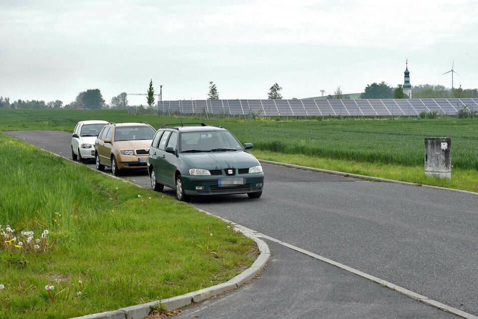 Hier im Gewerbegebiet in Oberseifersdorf soll ein Funkturm errichtet werden.