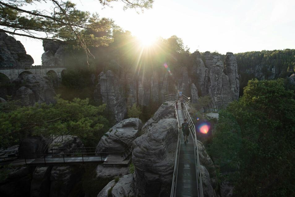 In die Sächsische Schweiz kamen fast so viele Touristen wie im Vorjahr.