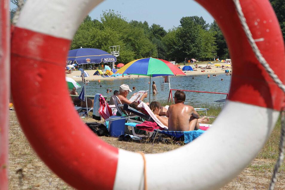 Normalerweise tummeln sich an der Wostra viele FKK-Badegäste.