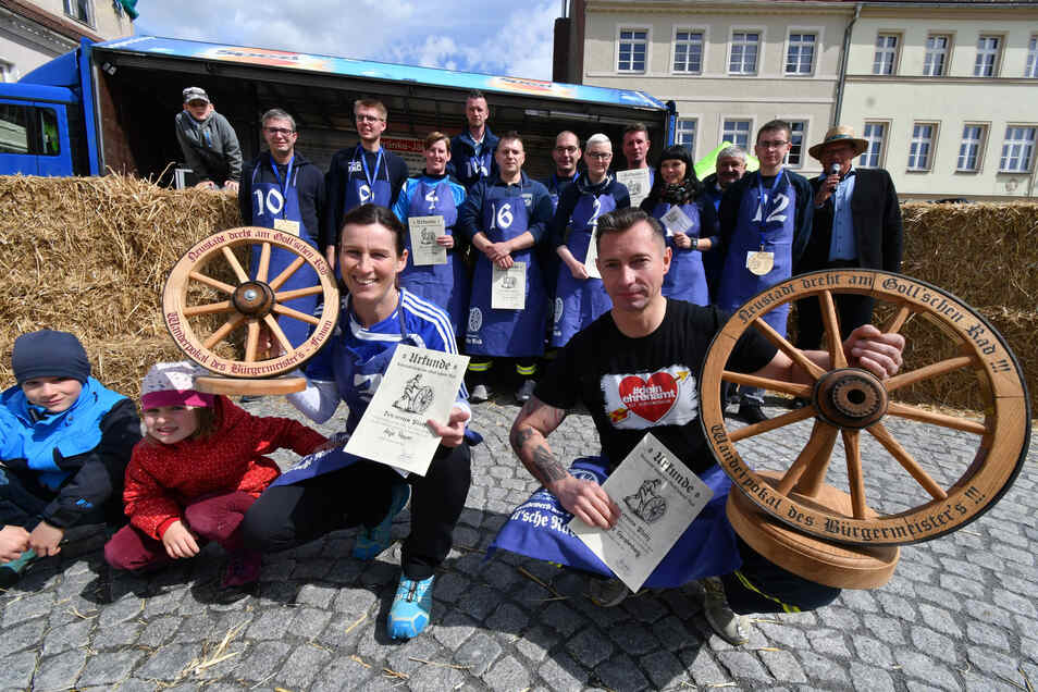 Anja Raum und Thomas Gerstenberg haben den Wettkampf gewonnen.