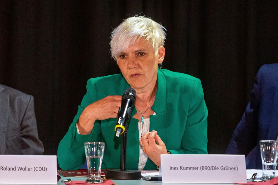 Ines Kummer beim Wahlforum zur Sachsenwahl 2019 in Freital. Sie ist ende Januar in den Landtag nachgerückt.
