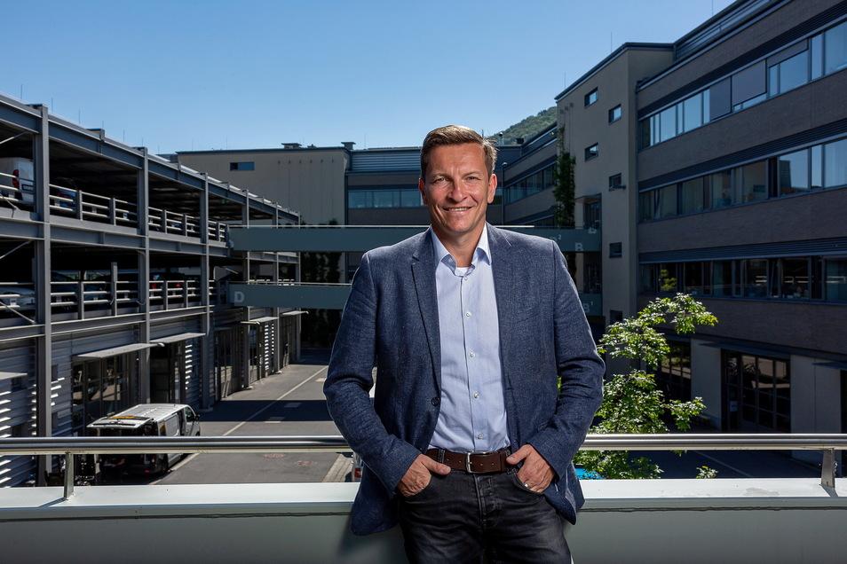 Grund zur Freude für Alexander Karrei: Der Geschäftsführer kann positive Zahlen für das Technologiezentrum F1 verkünden.