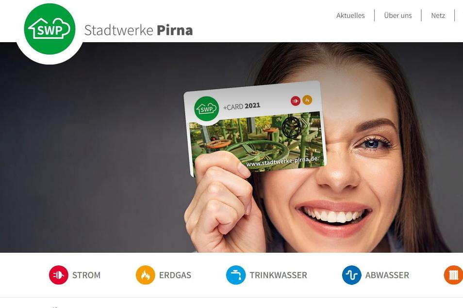 Neue Internetseite der Stadtwerke Pirna: Besserer Überblick für Kunden.