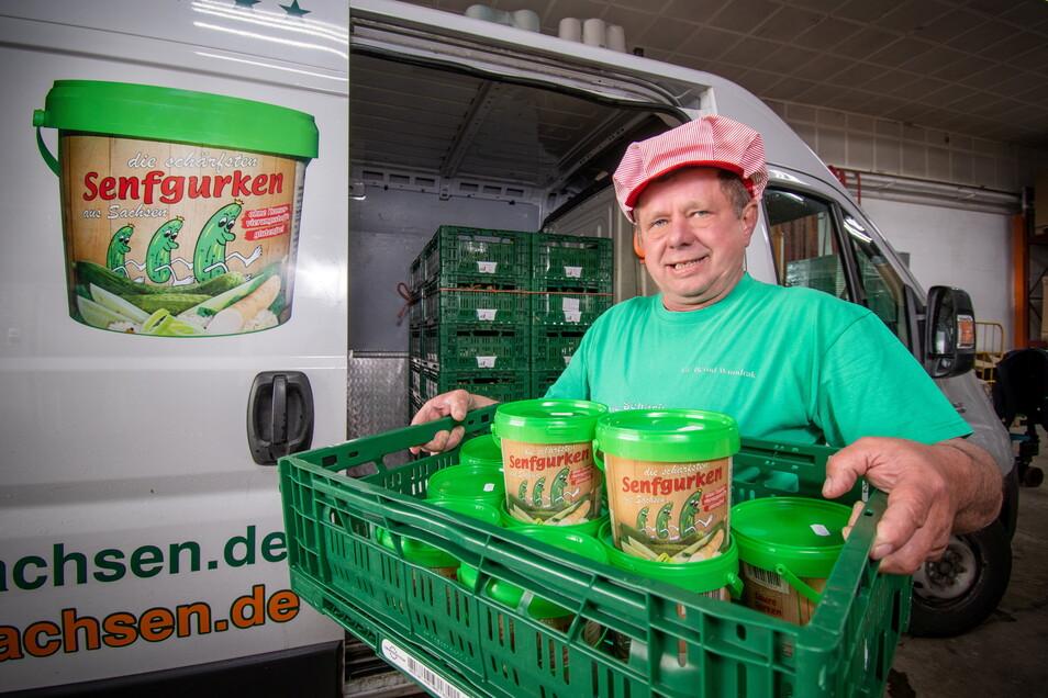 Bernd Wundrak verkauft die Gurkenspezialitäten inzwischen nicht mehr auf Märkten, sondern beliefert verschiedene Hofläden und weitere Partner damit.