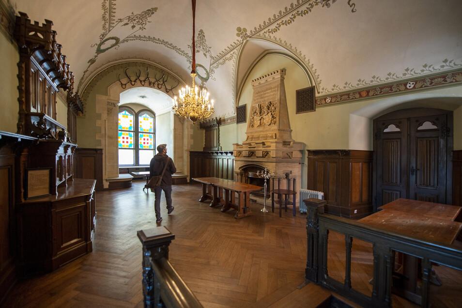 Der Rittersaal: Hier waren dieses Jahr Hochzeiten und Zaubershows geplant. Wegen Corona ist derzeit offen, ob und wann es wieder Veranstaltungen gibt.